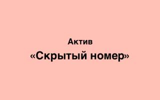 Как позвонить со скрытого номера Актив Казахстан и как узнать входящий